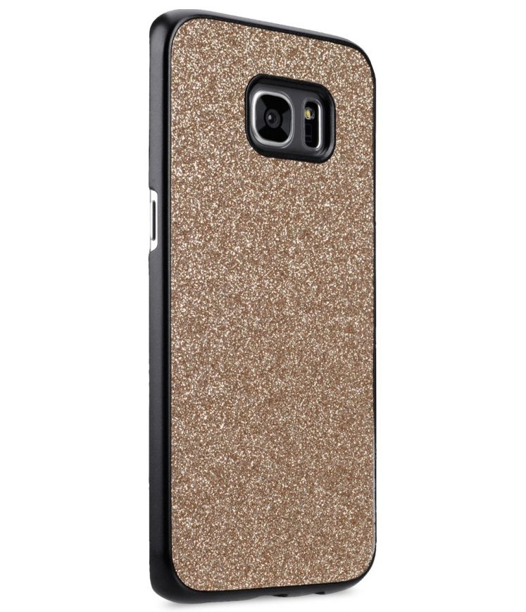 "Royal Bling Bling Cover Case For Samsung Galaxy S7 Edge( 5.7"") - Shiny Black"