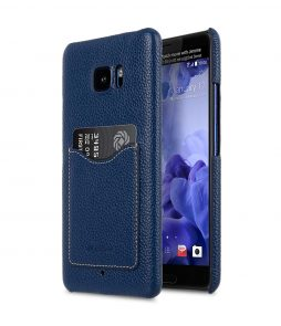 Premium Leather Card Slot Snap Back Cover for HTC U Ultra -Ver.2