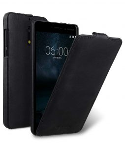 Premium Leather Flip Folio Vertical Case for Nokia 6 - Jacka Type