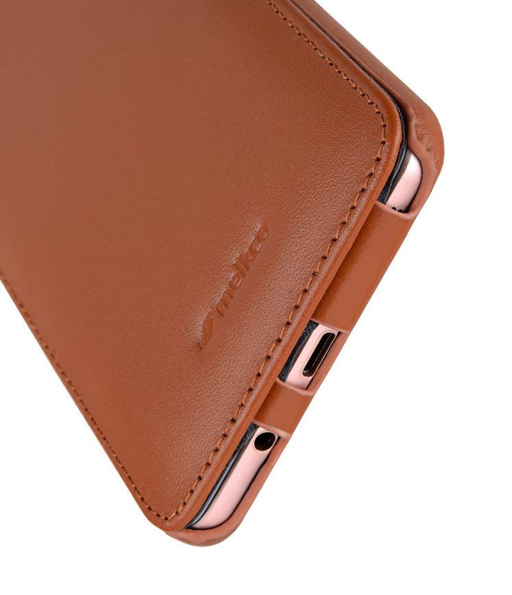 Melkco Premium Leather Case for Samsung Galaxy C9 Pro - Jacka Type ( Brown )