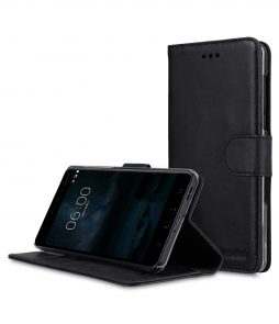Melkco Premium Leather Flip Folio Case for Nokia 6 - Wallet Book Clear Type Stand