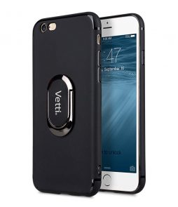 "Vetti Craft Elite Stand Slim TPU Case for Apple iPhone 6s / 6 Plus (5.5"") - ( Black )"