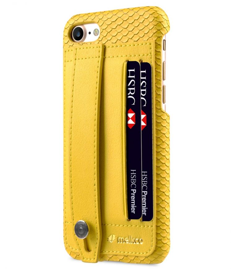 "Melkco Fashion Python Skin Series Leather Case with Card Detect Function for Apple iPhone 7 / 8 (4.7"") - (Yellow)"