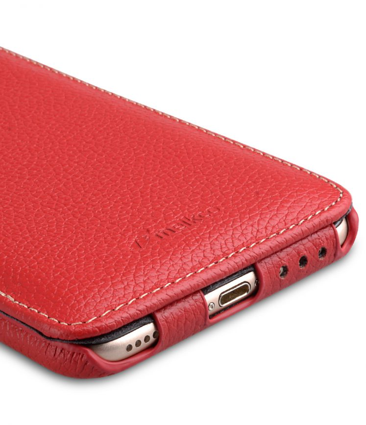 "Melkco Premium Leather Case for Apple iPhone 7 / 8 Plus (5.5"") - Jacka Type (Red LC)"