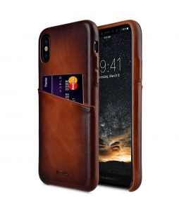 Melkco Elite Series Premium Leather Snap Back Pocket Case for Apple iPhone X - ( Tan )