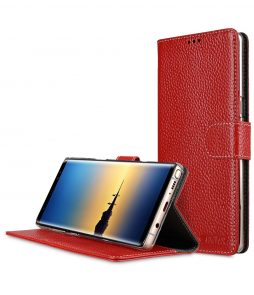 Melkco Premium Leather Flip Folio Case for Samsung Galaxy Note 8 - Wallet Book Clear Type Stand