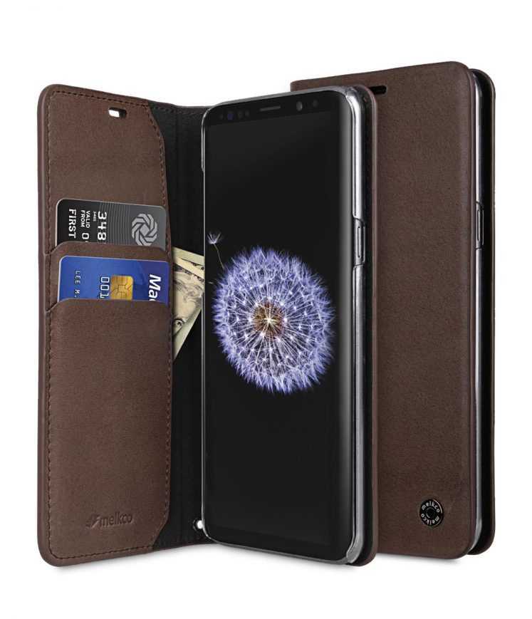 Melkco Fashion Cocktail Series Premium Leather Slim Flip Type Case for Samsung Galaxy S9 - ( Brown )