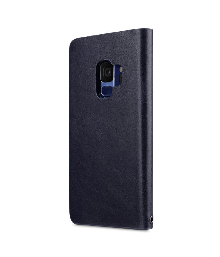 Fashion Cocktail Series Premium Leather Slim Flip Type Case for Samsung Galaxy S9 - (Navy)