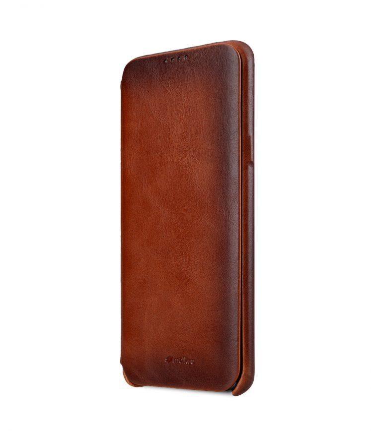 Melkco Elite Series Premium Leather Face Cover Back Slot Case for Samsung Galaxy S9 - ( Tan )