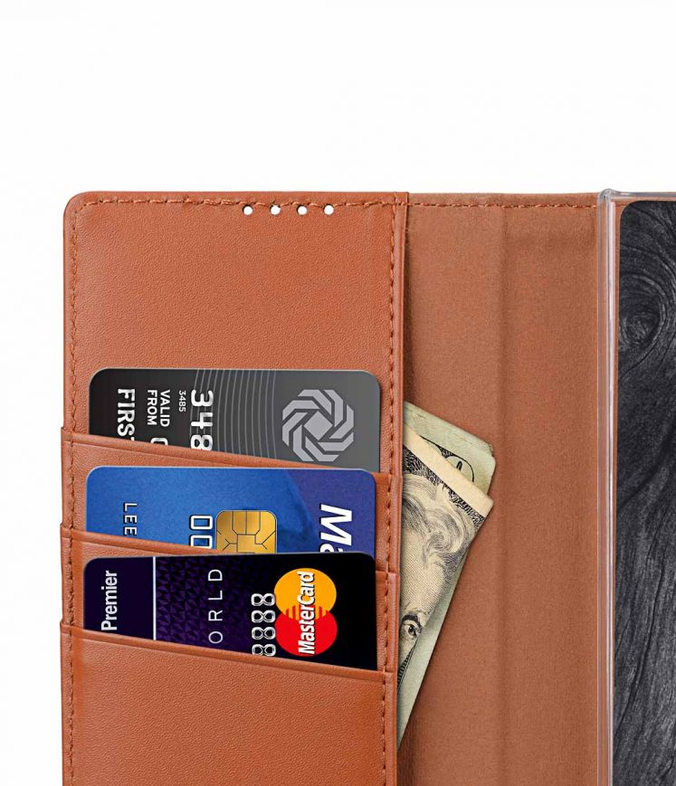 Melkco Wallet Book Series Crazy Horse Premium Leather Wallet Book Clear Type Stand Case for Sony Xperia XA2 Ultra - ( Brown CH )