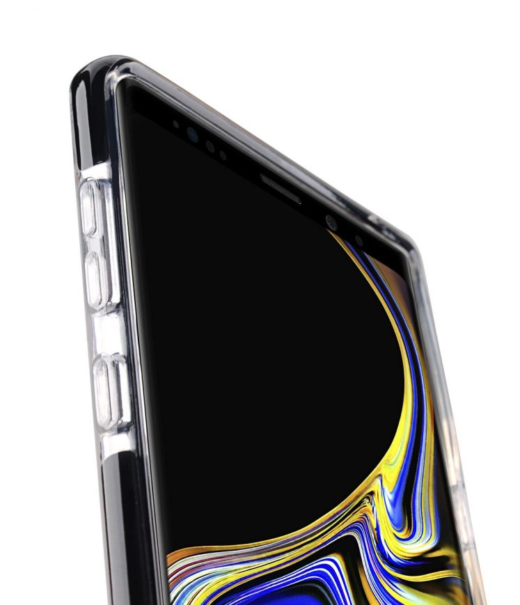 Clear Supreme Guard Case for Samsung Galaxy Note 9 – (Transparent / Black)