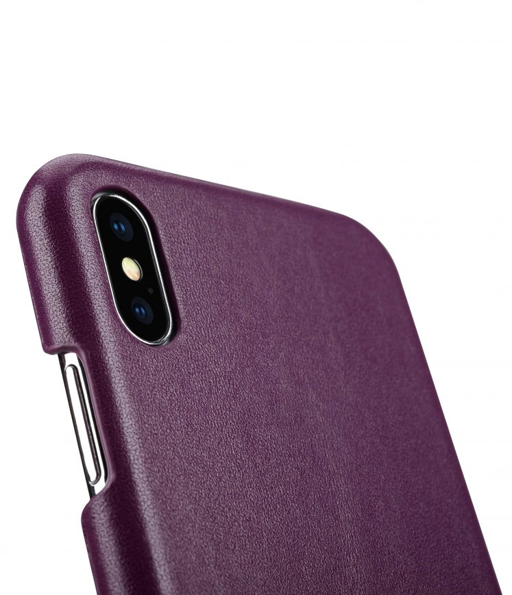 """Melkco Premium Leather Card Slot Back Cover V2 for Apple iPhone XS Max (6.5"""") - ( Purple )"""